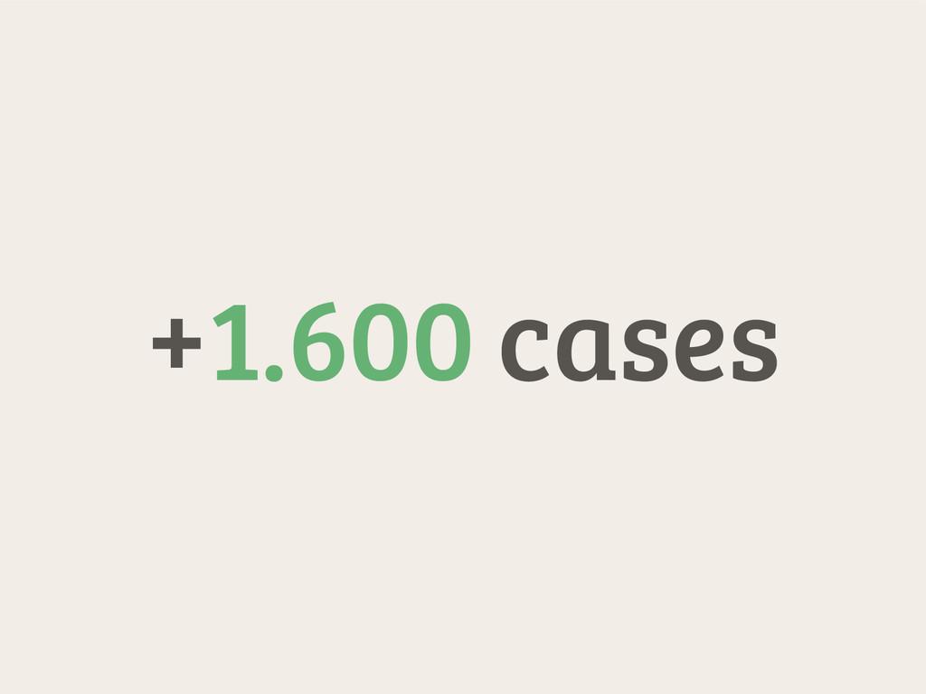 +1.600 cases