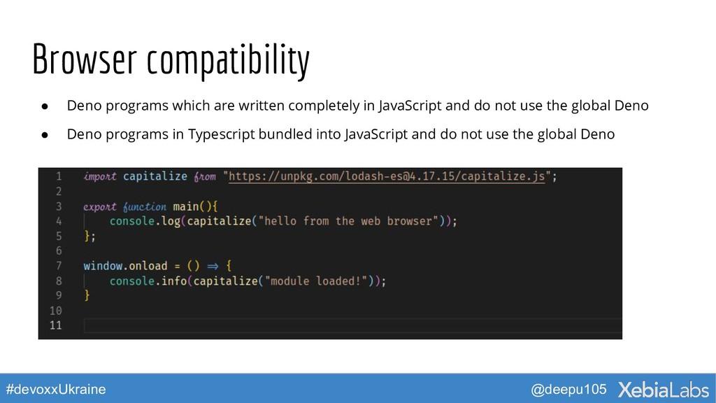 @deepu105 #devoxxUkraine Browser compatibility ...