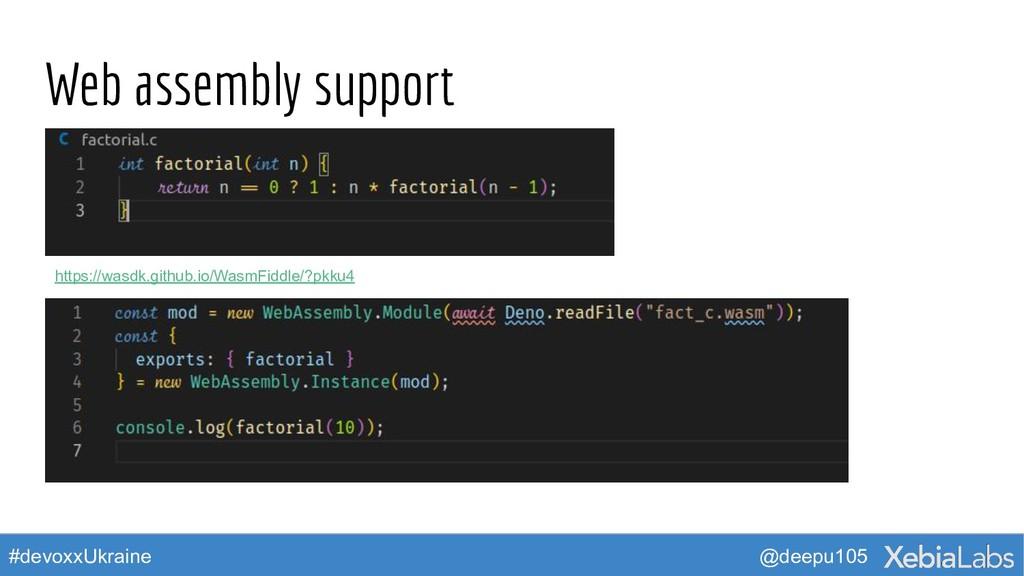 @deepu105 #devoxxUkraine Web assembly support h...