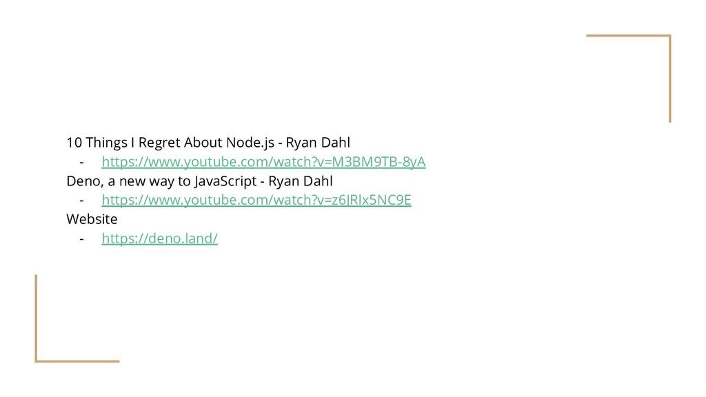 10 Things I Regret About Node.js - Ryan Dahl - ...
