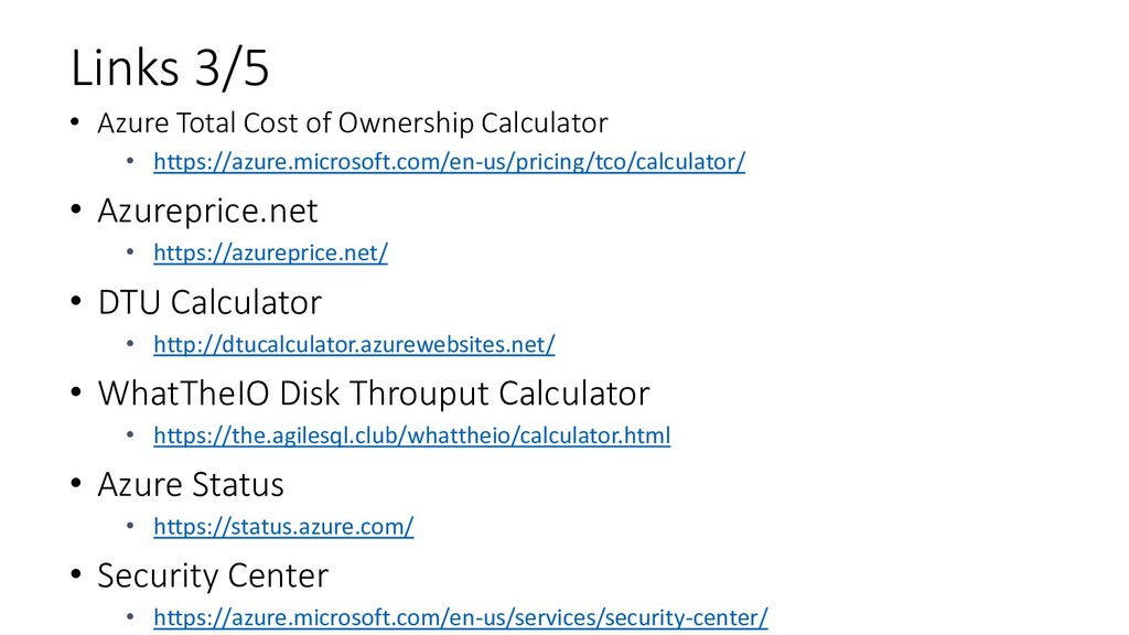 Links 3/5 • Azure Total Cost of Ownership Calcu...