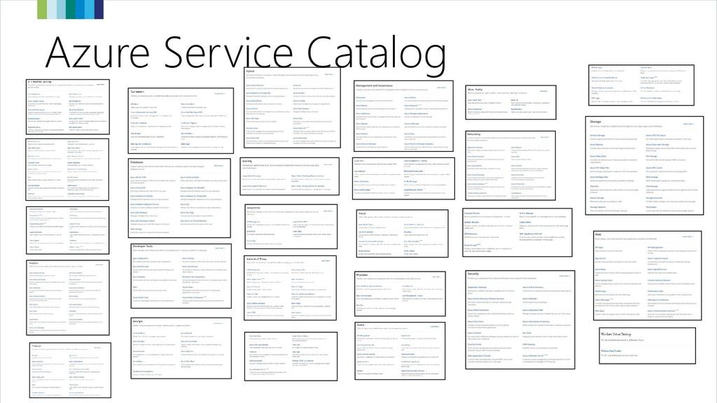 Azure Service Catalog