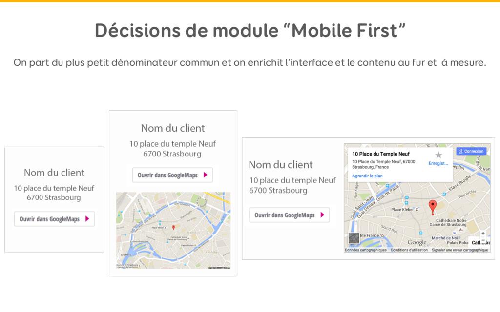 """Décisions de module """"Mobile First"""" On part du p..."""