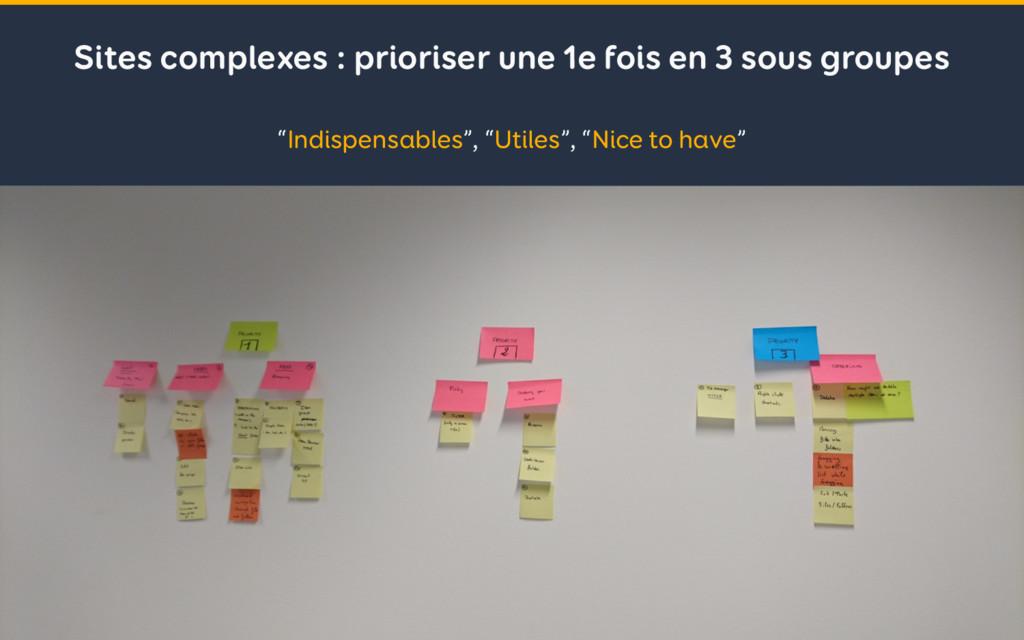 Sites complexes : prioriser une 1e fois en 3 so...