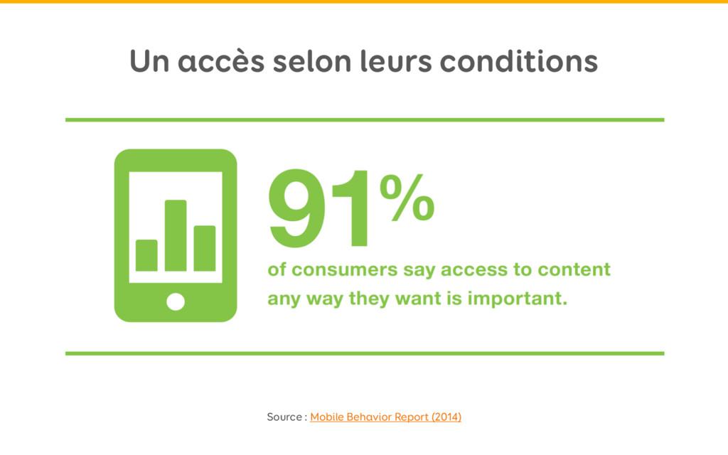 Un accès selon leurs conditions Source : Mobile...