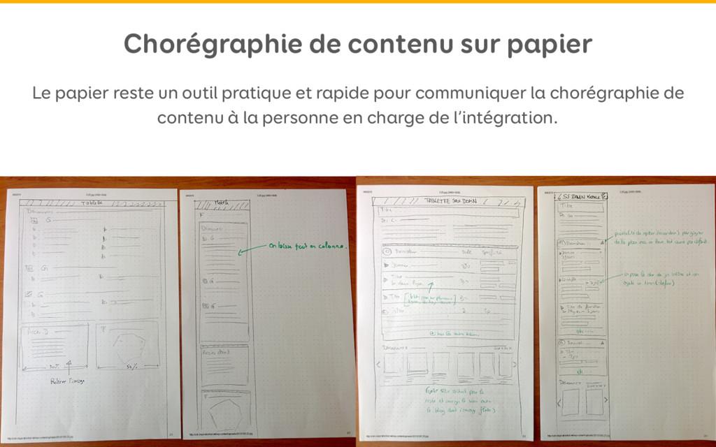 Chorégraphie de contenu sur papier Le papier re...