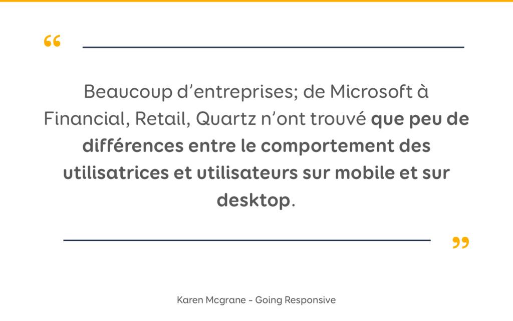 """"""" """" Beaucoup d'entreprises; de Microsoft à Fina..."""
