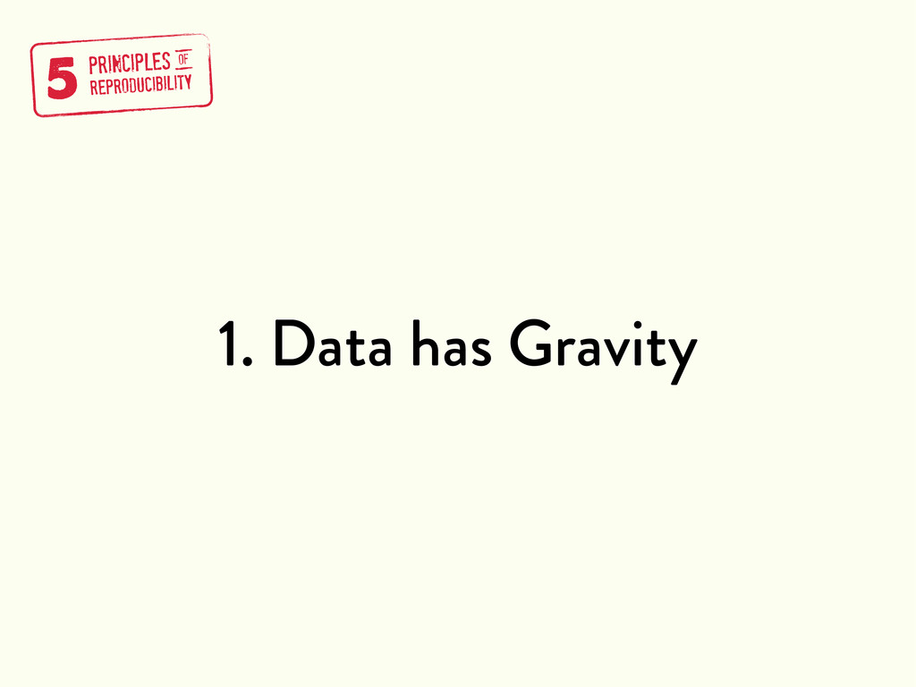1. Data has Gravity 5 PRINCIPLES REPRODUCIBILIT...