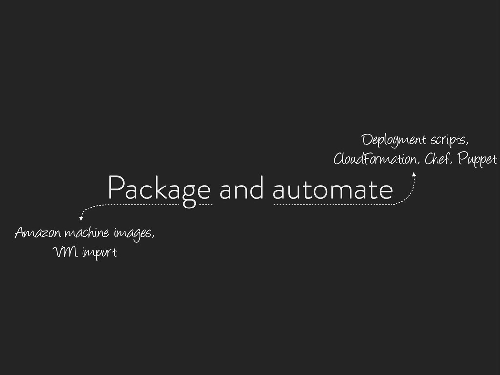 Package and automate Amazon machine images, VM ...