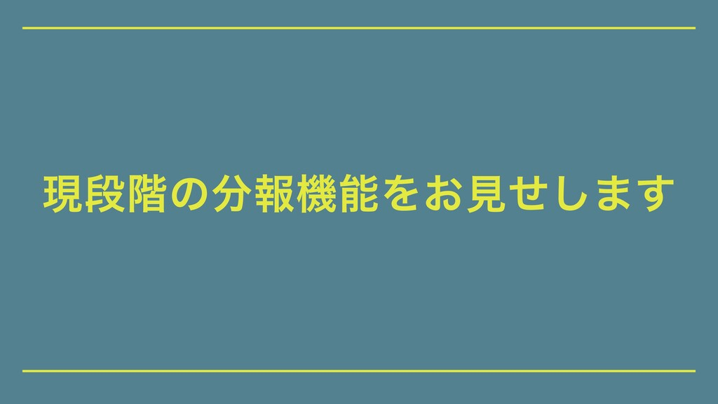 ݱஈ֊ͷใػΛ͓ݟͤ͠·͢