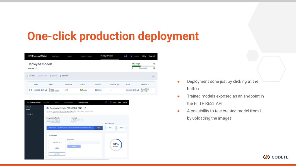 One-click production deployment ● Deployment do...