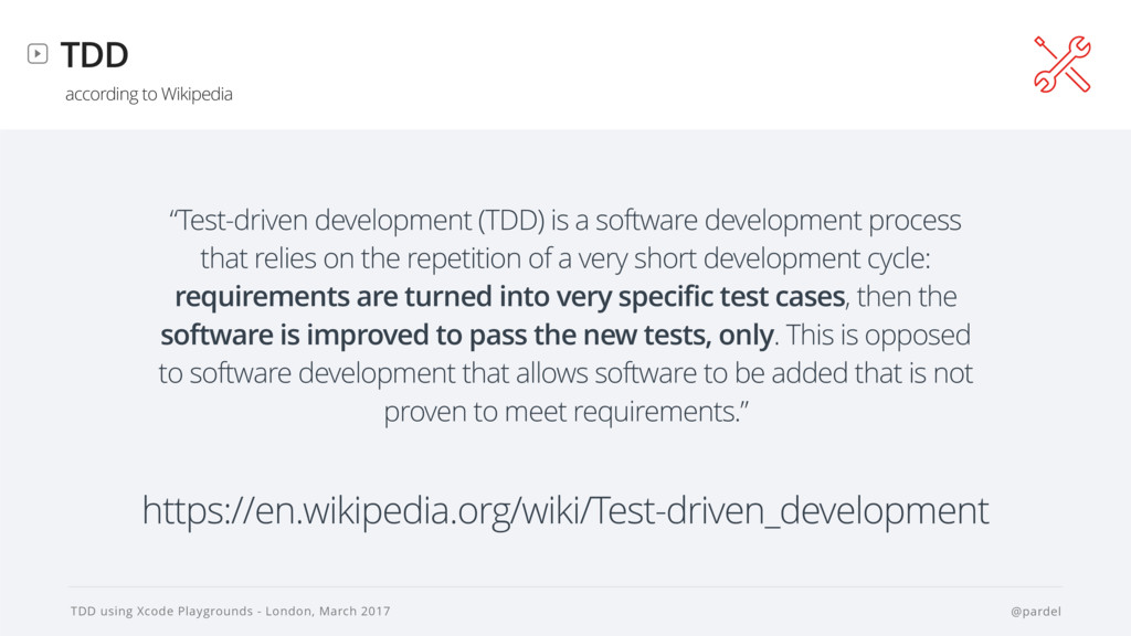 TDD using Xcode Playgrounds - London, March 201...