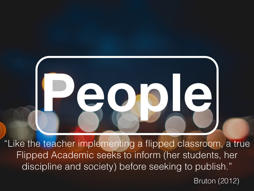 """People """"Like the teacher implementing a flipped ..."""