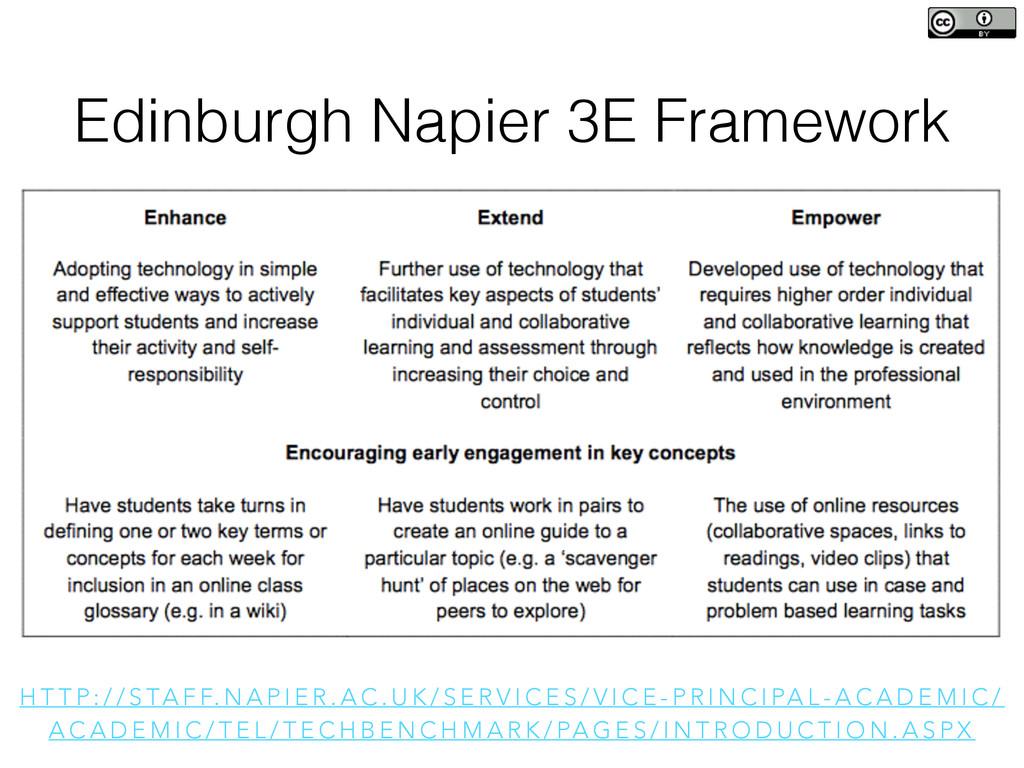 Edinburgh Napier 3E Framework H T T P : / / S T...
