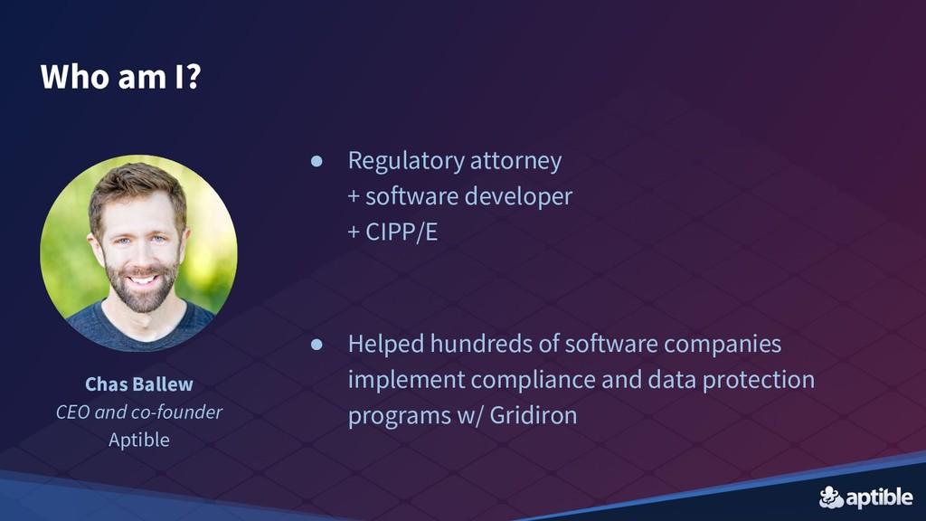 ● Regulatory attorney + software developer + CI...