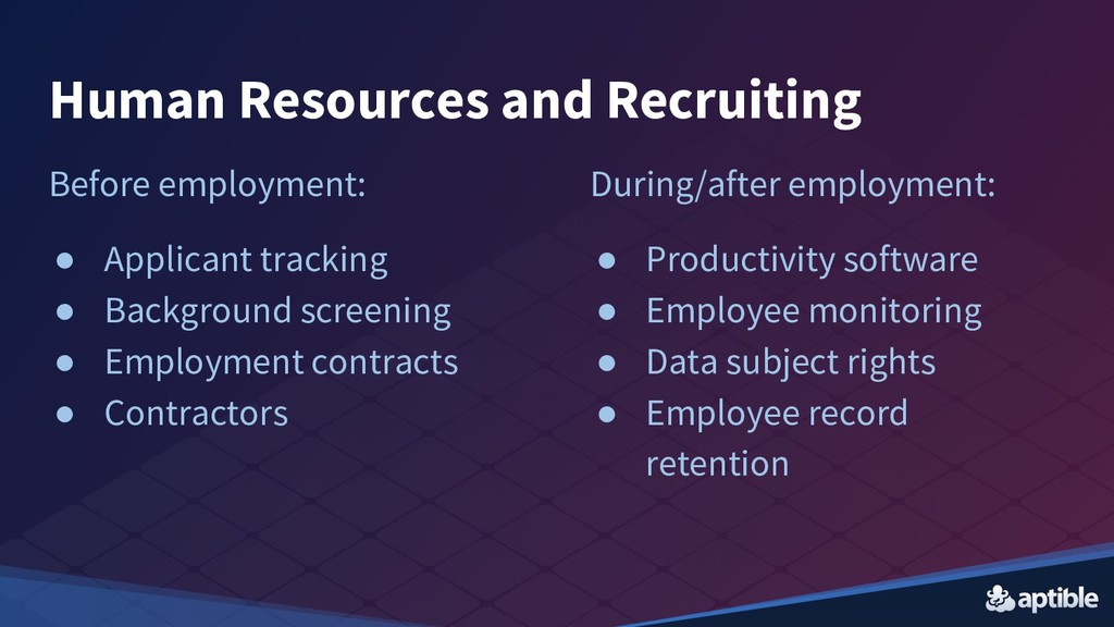 Human Resources and Recruiting Before employmen...