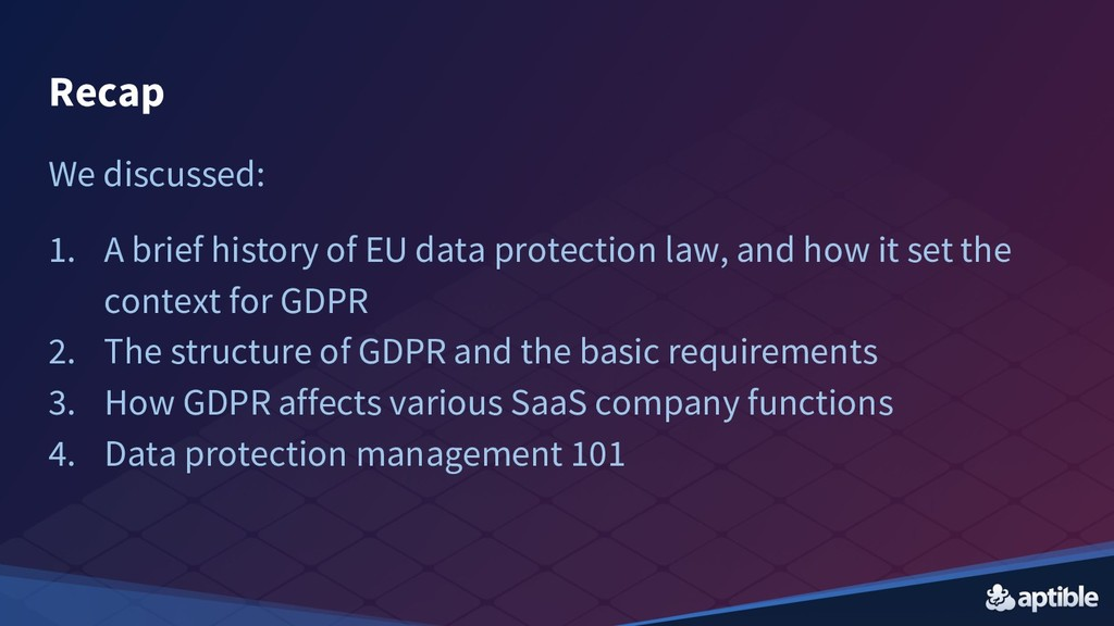 We discussed: 1. A brief history of EU data pro...