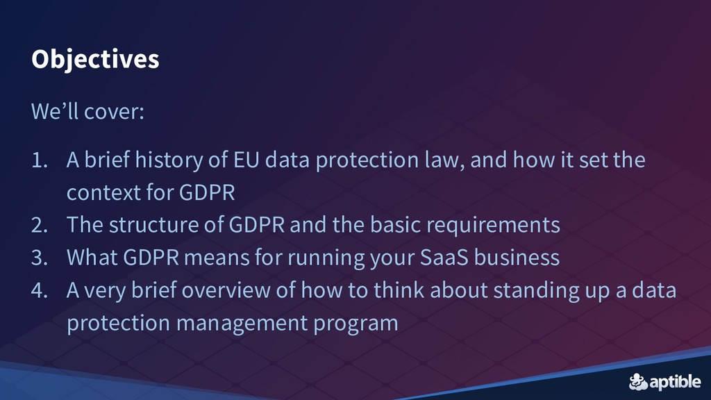 We'll cover: 1. A brief history of EU data prot...