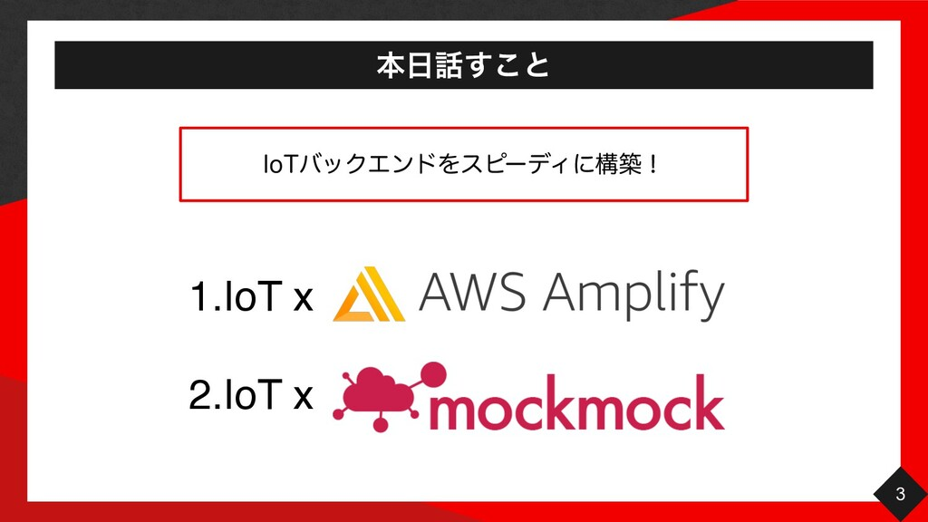 ຊ͢͜ͱ 3 1.IoT x 2.IoT x *P5όοΫΤϯυΛεϐʔσΟʹߏஙʂ