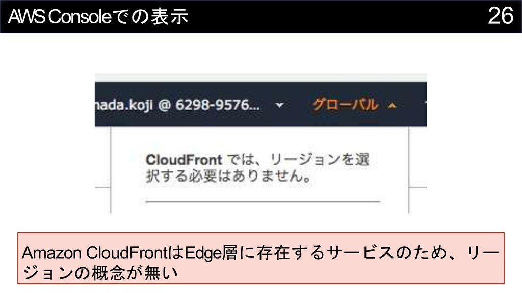 26 AWSConsole Amazon CloudFront Edge...