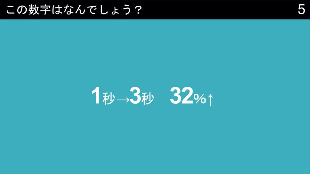 5    1→ 3 32↑