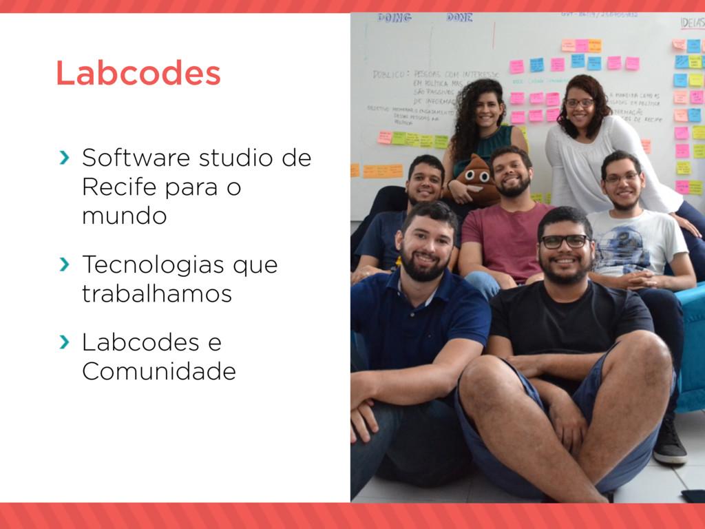 Labcodes Software studio de Recife para o mundo...
