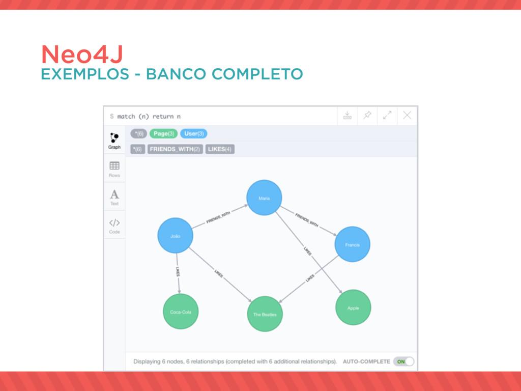 Neo4J EXEMPLOS - BANCO COMPLETO