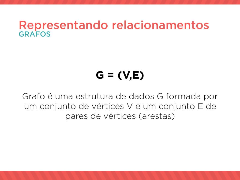 G = (V,E) Grafo é uma estrutura de dados G form...