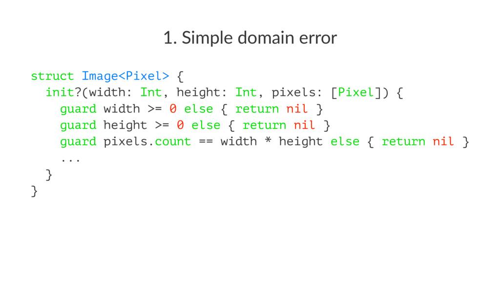1. Simple domain error struct Image<Pixel> { in...