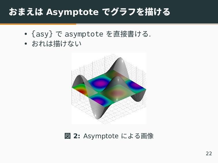 おまえは Asymptote でグラフを描ける • {asy} で asymptote を直接...