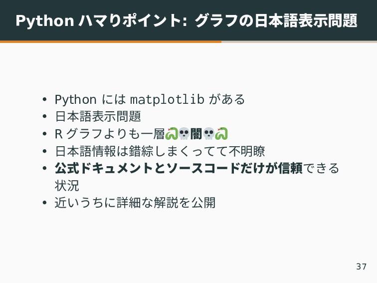 Python ハマりポイント: グラフの日本語表示問題 • Python には matplot...