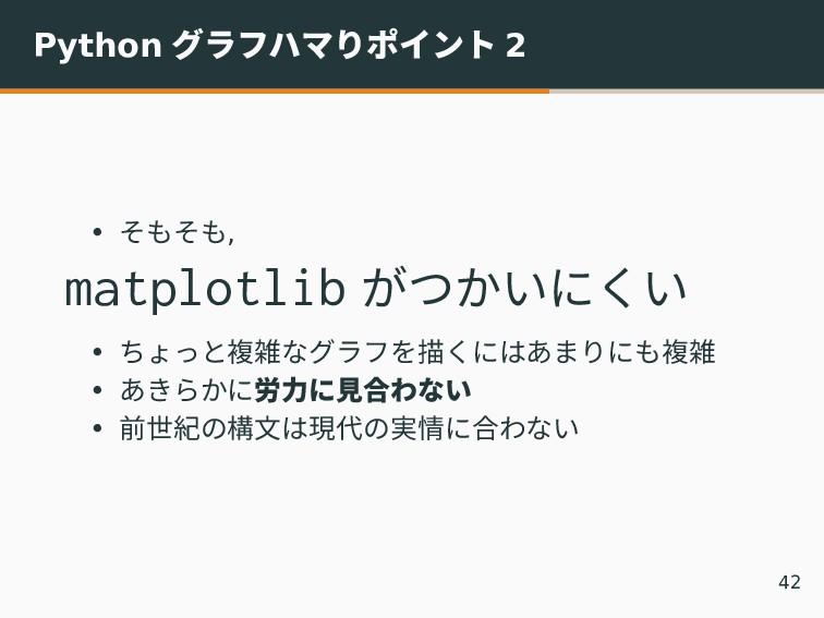 Python グラフハマりポイント 2 • そもそも, matplotlib がつかいにくい ...