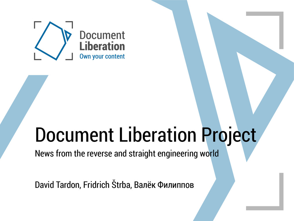 Document Liberation Project News from the rever...