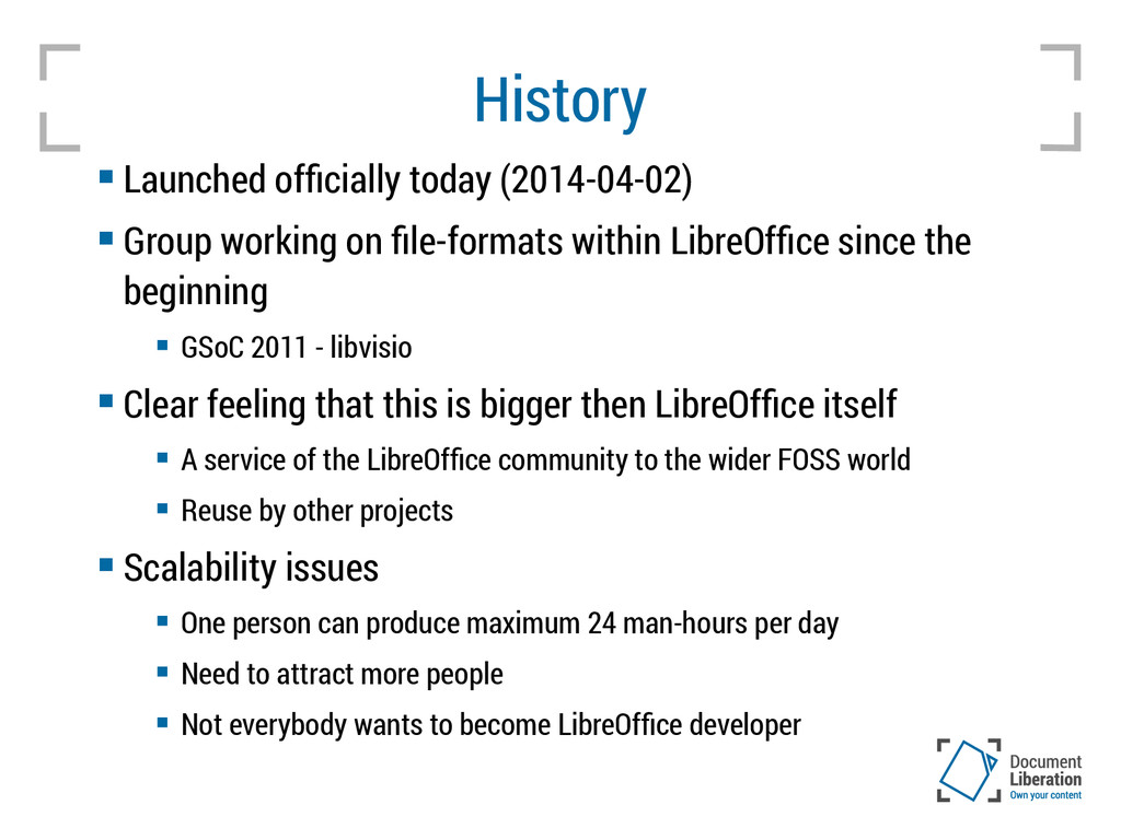 History  Launched officially today (2014-04-02...