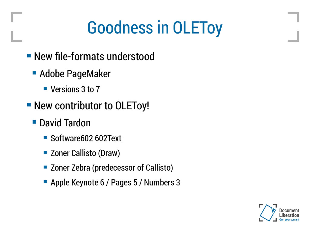 Goodness in OLEToy  New file-formats understoo...