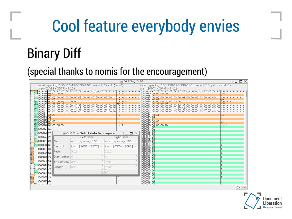 Cool feature everybody envies Binary Diff (spec...