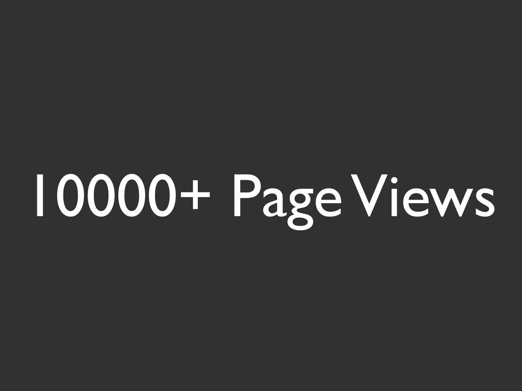 10000+ Page Views