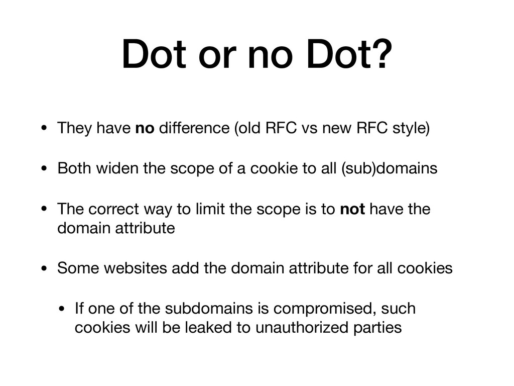 Dot or no Dot? • They have no difference (old RF...