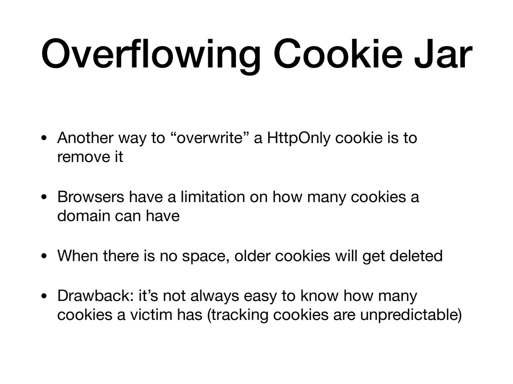 """Overflowing Cookie Jar • Another way to """"overwri..."""