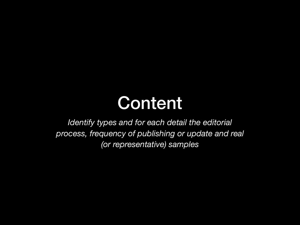 Content Identify types and for each detail the ...