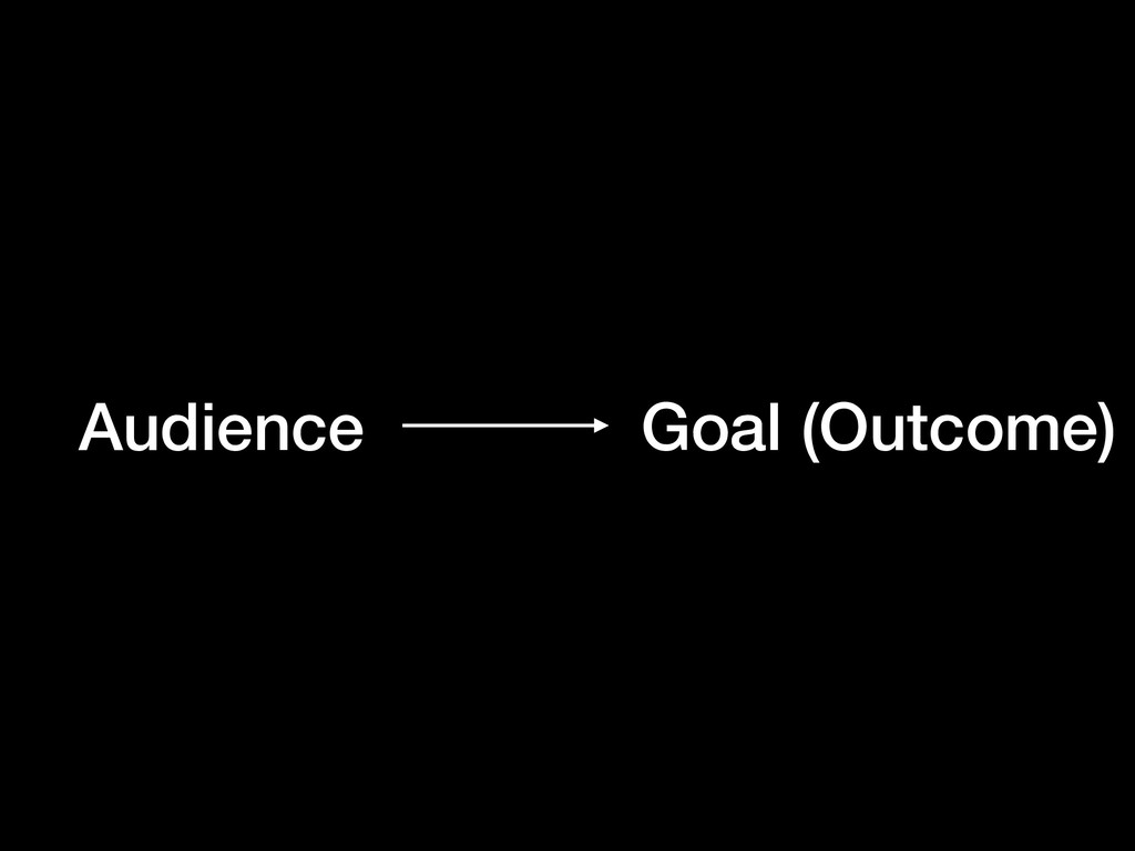 Audience Goal (Outcome)