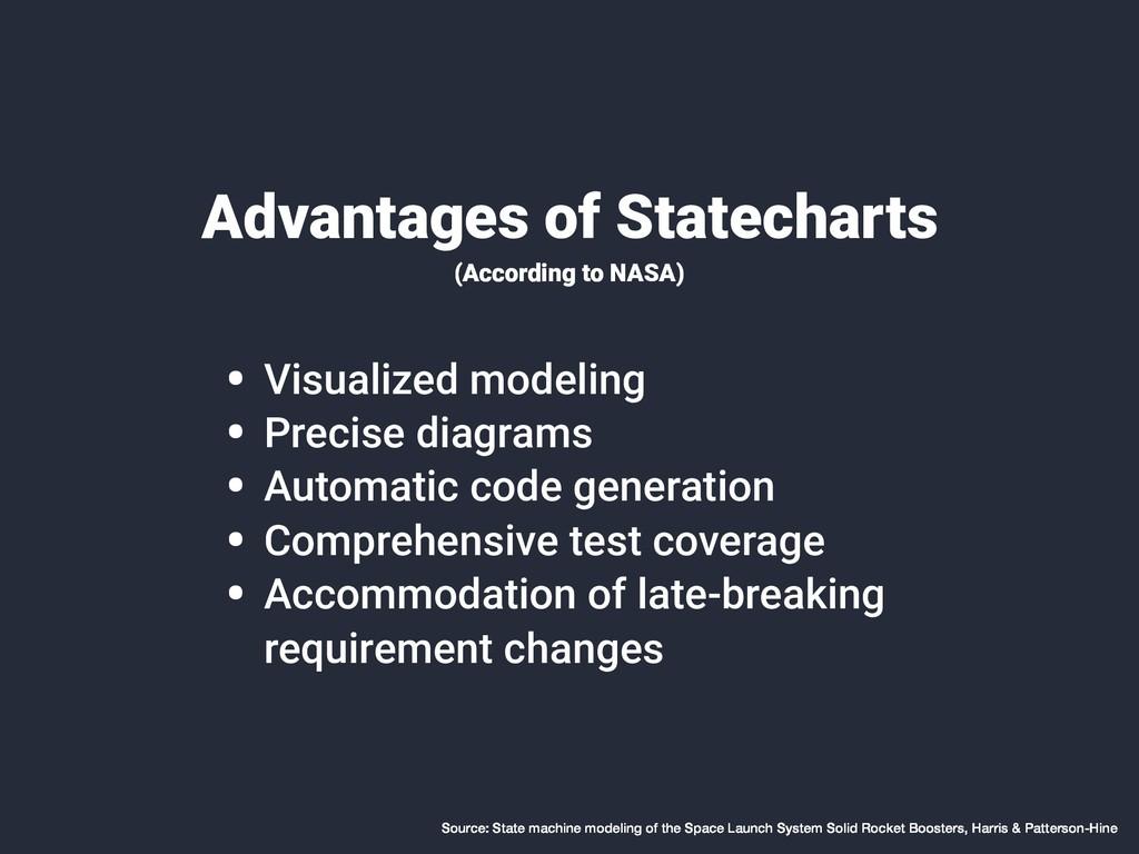 Advantages of Statecharts (According to NASA) •...