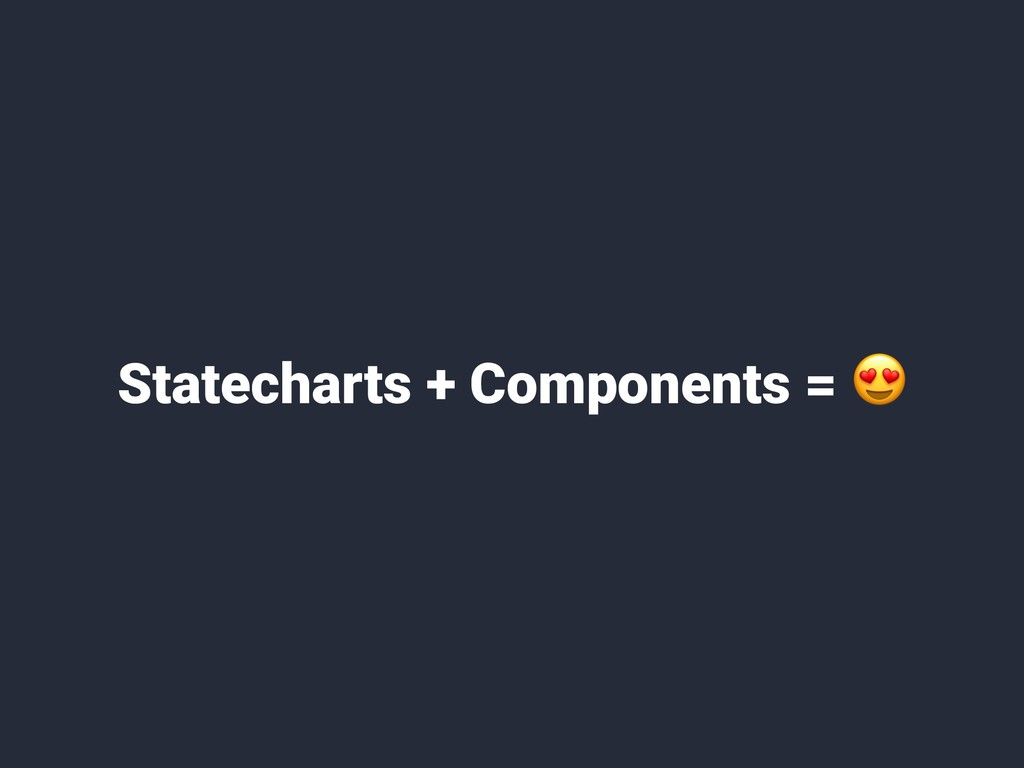 Statecharts + Components =