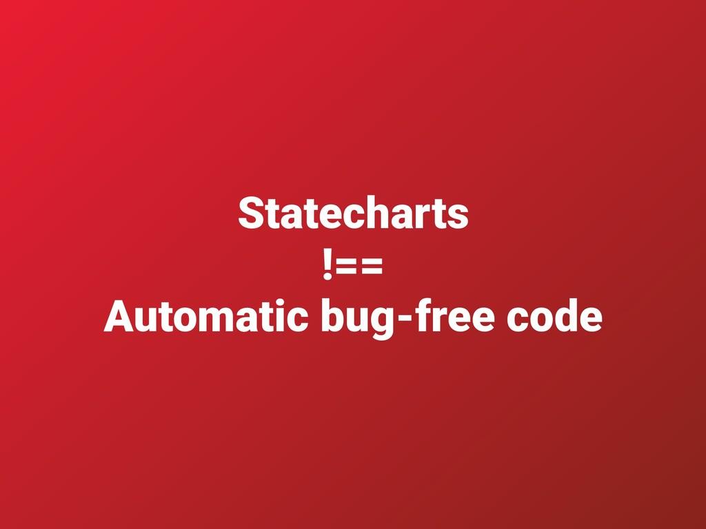 Statecharts !== Automatic bug-free code