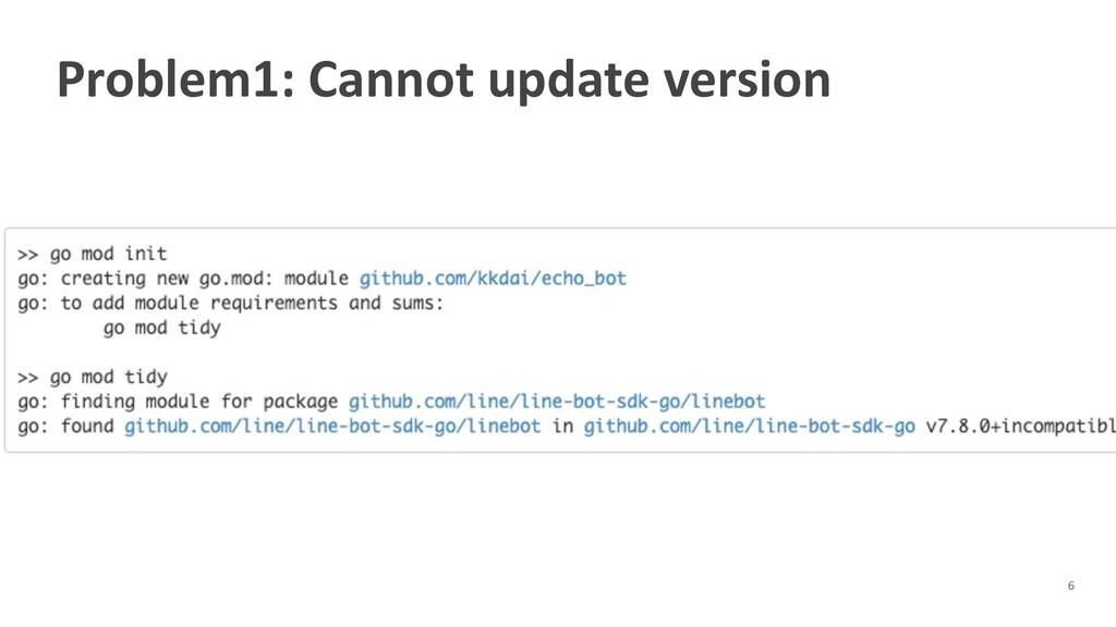 Problem1: Cannot update version