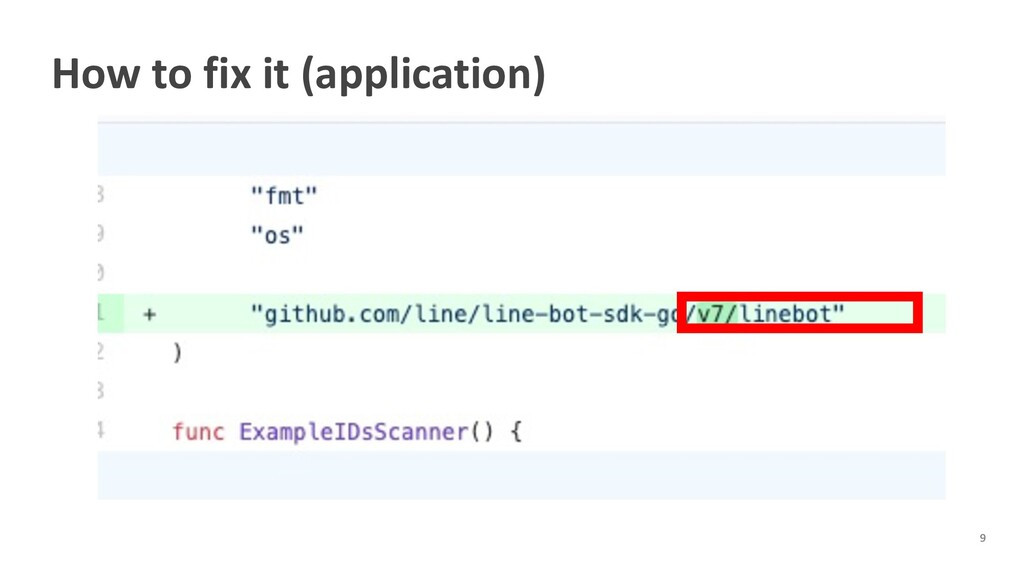 How to fix it (application)