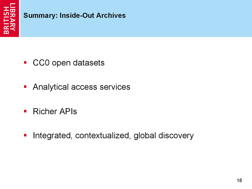Summary: Inside-Out Archives 18 §  CC0 open da...