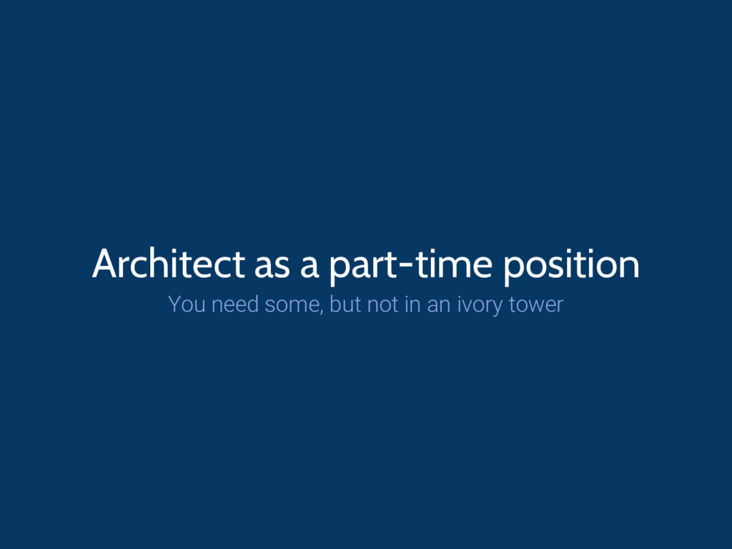 Architect as a part-time position You need some...