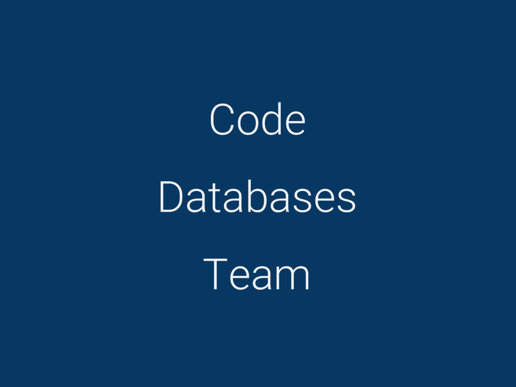 Code Databases Team