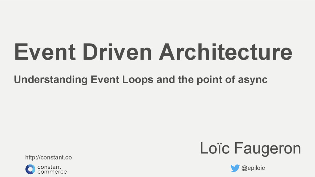Event Driven Architecture Understanding Event L...